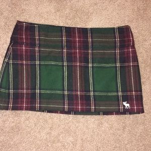 Abercrombie and Fitch Plaid Mini Skirt